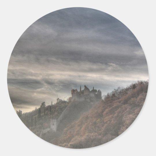 Marostica Castle Classic Round Sticker