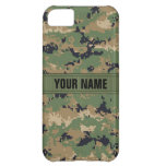 MarPat Digital Woodland Camo #2 Personalized iPhone 5C Cover