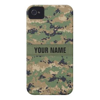 MarPat Digital Woodland Camo #2 Personalized iPhone 4 Case