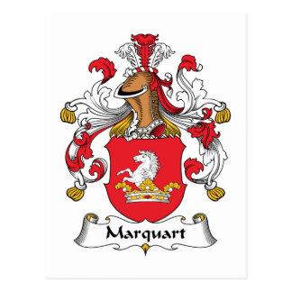 Marquart Family Crest Postcard