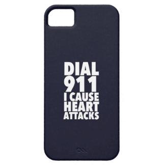 Marque 911 que causo negro iPhone 5 funda