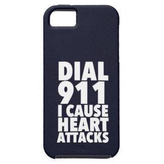 Marque 911 que causo negro funda para iPhone 5 tough