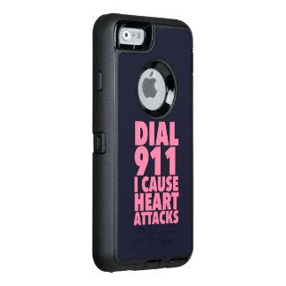 Marque 911 que causo rosa funda OtterBox defender para iPhone 6