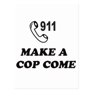 MARQUE 911 TARJETA POSTAL