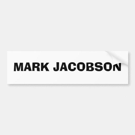 MARQUE A JACOBSON PEGATINA PARA AUTO