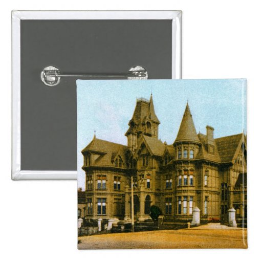Marque al instituto de Hopkins del arte Pin Cuadrada 5 Cm