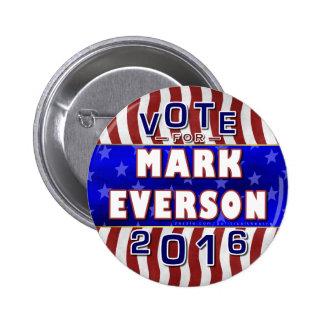 Marque al republicano 2016 del presidente elección pin redondo 5 cm