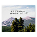 Marque el 10:27 con dios, todas las cosas son posi posters