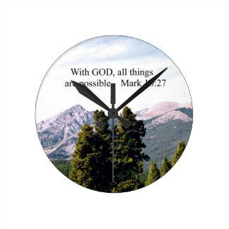 Marque el 10:27 con dios, todas las cosas son posi reloj