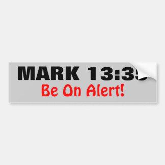 Marque el 13:35 esté en alarma pegatina de parachoque