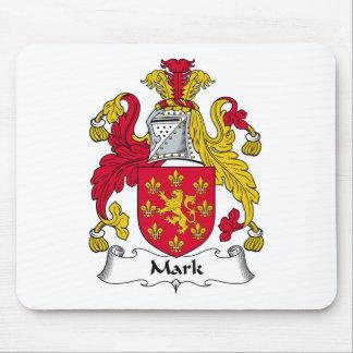 Marque el escudo de la familia tapetes de ratón