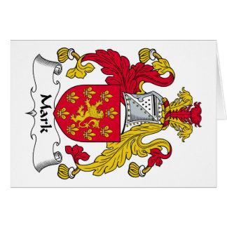 Marque el escudo de la familia tarjeta de felicitación