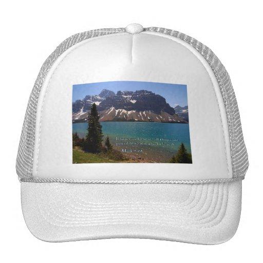 Marque el lago mountain del 9:23 gorras de camionero