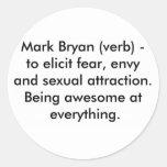 Marque el verbo de Bryan Pegatinas Redondas