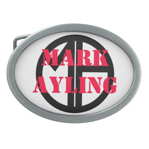 Marque la hebilla del cinturón del logotipo de Ayl Hebilla Cinturon Oval