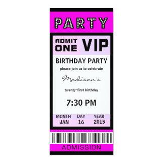 Marque las 21ras invitaciones de la fiesta de anuncio personalizado