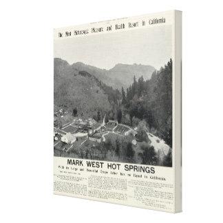 Marque las aguas termales del oeste, California Impresiones En Lona