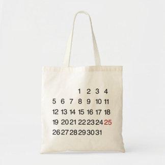 Marque su tote de los calendarios bolsa tela barata