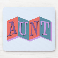 Mousepad with Marquee Aunt design
