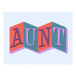 Postcard with Marquee Aunt design