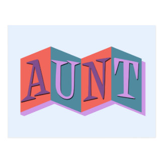 Marquee Aunt Postcard