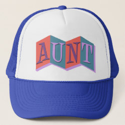 Trucker Hat with Marquee Aunt design