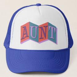 Trucker Hat with Marquee Aunt design