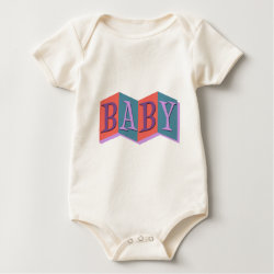 Infant Organic Creeper with Marquee Baby design