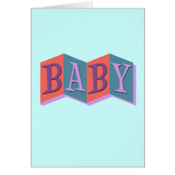 Greeting Card with Marquee Baby design