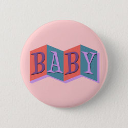 Round Button with Marquee Baby design