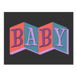 Postcard with Marquee Baby design