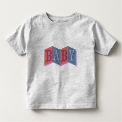 Toddler Fine Jersey T-Shirt with Marquee Baby design