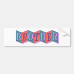 Bumper Sticker with Retro Marquee Brother design
