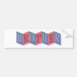 Bumper Sticker with Retro Marquee Brother design