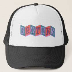 Trucker Hat with Retro Marquee Brother design
