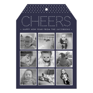 Marquee Cheers | Happy New Year Photo Collage Card
