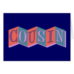 Greeting Card with Marquee Cousin design