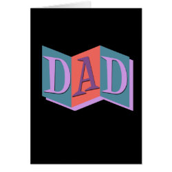 Greeting Card with Marquee Dad design