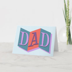 Standard Card with Marquee Dad design