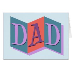 Marquee Dad Greeting Card