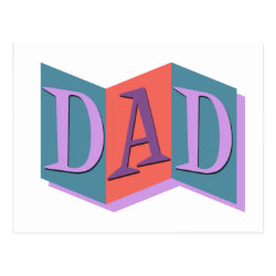 Postcard with Marquee Dad design