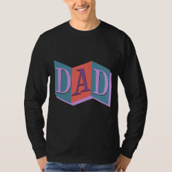 Men's Basic Long Sleeve T-Shirt with Marquee Dad design