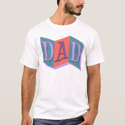 Men's Basic T-Shirt with Marquee Dad design