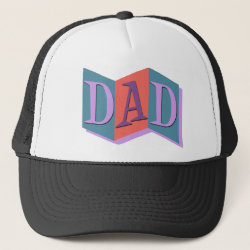 Trucker Hat with Marquee Dad design