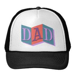 Trucker Hat with Marquee Dad design