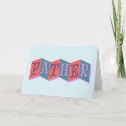 Standard Card with Marquee Father design