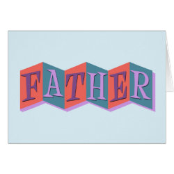 Greeting Card with Marquee Father design