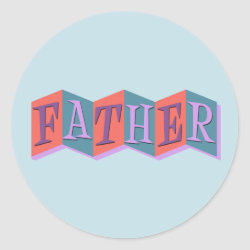 Round Sticker with Marquee Father design