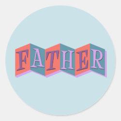 Round Sticker with Marquee Father design