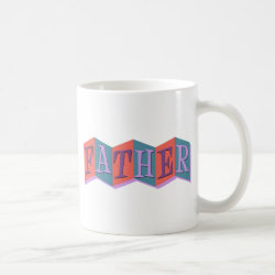 Classic White Mug with Marquee Father design